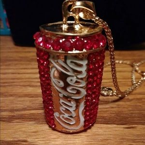 3/$18 Betsey Johnson Crystal Coca-Cola Necklace